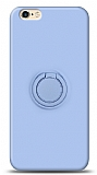 Eiroo Ring Color iPhone 6 / 6S Yüzük Tutuculu Mavi Silikon Kılıf