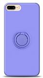 Eiroo Ring Color iPhone 7 Plus / 8 Plus Yüzük Tutuculu Mor Silikon Kılıf