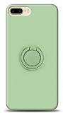 Eiroo Ring Color iPhone 7 Plus / 8 Plus Yüzük Tutuculu Yeşil Silikon Kılıf