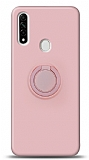 Eiroo Ring Color Oppo A31 Yüzük Tutuculu Açık Pembe Silikon Kılıf