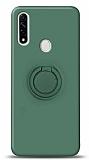 Eiroo Ring Color Oppo A31 Yüzük Tutuculu Koyu Yeşil Silikon Kılıf