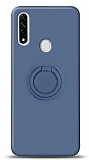 Eiroo Ring Color Oppo A31 Yüzük Tutuculu Lacivert Silikon Kılıf