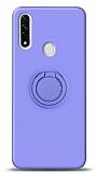 Eiroo Ring Color Oppo A31 Yüzük Tutuculu Mor Silikon Kılıf