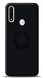 Eiroo Ring Color Oppo A31 Yüzük Tutuculu Siyah Silikon Kılıf