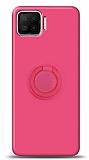 Eiroo Ring Color Oppo A73 Yüzük Tutuculu Pembe Silikon Kılıf