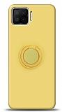 Eiroo Ring Color Oppo A73 Yüzük Tutuculu Sarı Silikon Kılıf