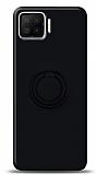Eiroo Ring Color Oppo A73 Yüzük Tutuculu Siyah Silikon Kılıf
