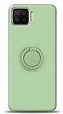 Eiroo Ring Color Oppo A73 Yüzük Tutuculu Yeşil Silikon Kılıf