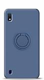 Eiroo Ring Color Samsung Galaxy A10 Yüzük Tutuculu Lacivert Silikon Kılıf