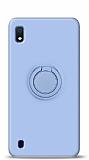 Eiroo Ring Color Samsung Galaxy A10 Yüzük Tutuculu Mavi Silikon Kılıf