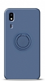 Eiroo Ring Color Samsung Galaxy A2 Core Yüzük Tutuculu Lacivert Silikon Kılıf