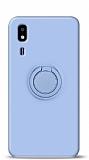 Eiroo Ring Color Samsung Galaxy A2 Core Yüzük Tutuculu Mavi Silikon Kılıf