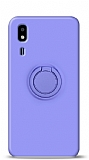 Eiroo Ring Color Samsung Galaxy A2 Core Yüzük Tutuculu Mor Silikon Kılıf