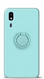 Eiroo Ring Color Samsung Galaxy A2 Core Yüzük Tutuculu Turkuaz Silikon Kılıf