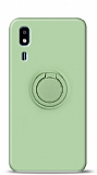 Eiroo Ring Color Samsung Galaxy A2 Core Yüzük Tutuculu Yeşil Silikon Kılıf
