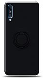 Eiroo Ring Color Samsung Galaxy A50s Yüzük Tutuculu Siyah Silikon Kılıf