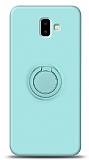 Eiroo Ring Color Samsung Galaxy J6 Plus Yüzük Tutuculu Turkuaz Silikon Kılıf