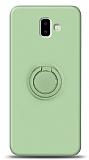 Eiroo Ring Color Samsung Galaxy J6 Plus Yüzük Tutuculu Yeşil Silikon Kılıf