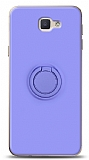 Eiroo Ring Color Samsung Galaxy J7 Prime / J7 Prime 2 Yüzük Tutuculu Mor Silikon Kılıf