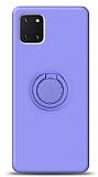 Eiroo Ring Color Samsung Galaxy Note 10 Lite Yüzük Tutuculu Mor Silikon Kılıf