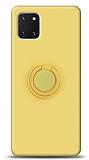 Eiroo Ring Color Samsung Galaxy Note 10 Lite Yüzük Tutuculu Sarı Silikon Kılıf