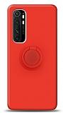 Eiroo Ring Color Xiaomi Mi Note 10 Lite Yüzük Tutuculu Kırmızı Silikon Kılıf