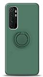 Eiroo Ring Color Xiaomi Mi Note 10 Lite Yüzük Tutuculu Koyu Yeşil Silikon Kılıf