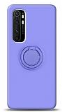 Eiroo Ring Color Xiaomi Mi Note 10 Lite Yüzük Tutuculu Mor Silikon Kılıf