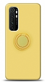 Eiroo Ring Color Xiaomi Mi Note 10 Lite Yüzük Tutuculu Sarı Silikon Kılıf