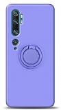 Eiroo Ring Color Xiaomi Mi Note 10 Pro Yüzük Tutuculu Mor Silikon Kılıf
