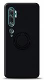 Eiroo Ring Color Xiaomi Mi Note 10 Pro Yüzük Tutuculu Siyah Silikon Kılıf
