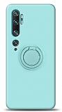 Eiroo Ring Color Xiaomi Mi Note 10 Pro Yüzük Tutuculu Turkuaz Silikon Kılıf