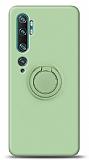Eiroo Ring Color Xiaomi Mi Note 10 Yüzük Tutuculu Yeşil Silikon Kılıf