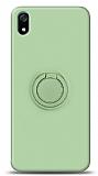 Eiroo Ring Color Xiaomi Redmi 7A Yüzük Tutuculu Yeşil Silikon Kılıf