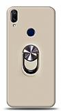 Eiroo Ring Fold Samsung Galaxy A40 Standlı Ultra Koruma Gold Kılıf