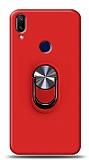Eiroo Ring Fold Samsung Galaxy A40 Standlı Ultra Koruma Kırmızı Kılıf