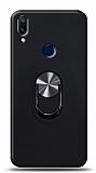 Eiroo Ring Fold Samsung Galaxy A40 Standlı Ultra Koruma Siyah Kılıf