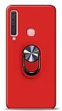 Eiroo Ring Fold Samsung Galaxy A9 2018 Standlı Ultra Koruma Kırmızı Kılıf