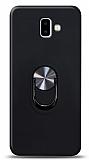 Eiroo Ring Fold Samsung Galaxy J6 Plus Standlı Ultra Koruma Siyah Kılıf