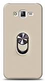 Eiroo Ring Fold Samsung Galaxy J7 / Galaxy J7 Core Standlı Ultra Koruma Gold Kılıf