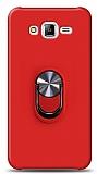 Eiroo Ring Fold Samsung Galaxy J7 / Galaxy J7 Core Standlı Ultra Koruma Kırmızı Kılıf