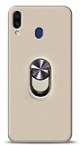 Eiroo Ring Fold Samsung Galaxy M20 Standlı Ultra Koruma Gold Kılıf