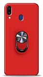 Eiroo Ring Fold Samsung Galaxy M20 Standlı Ultra Koruma Kırmızı Kılıf