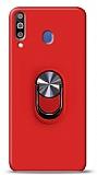 Eiroo Ring Fold Samsung Galaxy M30 Standlı Ultra Koruma Kırmızı Kılıf