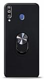 Eiroo Ring Fold Samsung Galaxy M30 Standlı Ultra Koruma Siyah Kılıf