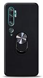 Eiroo Ring Fold Xiaomi Mi Note 10 Pro Standlı Ultra Koruma Siyah Kılıf