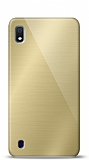 Eiroo Samsung Galaxy A10 Silikon Kenarlı Aynalı Gold Kılıf