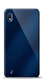 Eiroo Samsung Galaxy A10 Silikon Kenarlı Aynalı Lacivert Kılıf