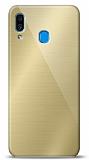 Eiroo Samsung Galaxy A20 / A30 Silikon Kenarlı Aynalı Gold Kılıf