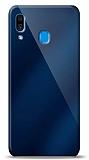 Eiroo Samsung Galaxy A20 / A30 Silikon Kenarlı Aynalı Lacivert Kılıf
